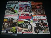 2000s Hot Bike Baggers Motorcycle Magazines Lot Of 7 - Great Covers - P 1632