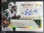 Percy Harvin 2014 National Treasures Prime Timeline Auto 10/15 Patch