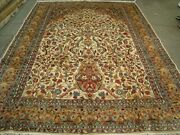 Harmony Rectangle Area Rug Wool Silk Hand Knotted Carpet 11.2 X 8.0'
