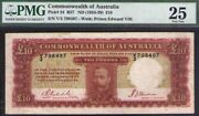 1934 Andpound10 Pounds Kgv Commonwealth Of Australia. Pmg Certified Vf25 Renniks R57 Rr