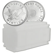 1 Oz. Silver Round - Sunshine Minting - .999 Fine Lot Roll Tube Of 20