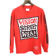 Fear Of God Vision Street Wear Vintage Long Sleeve T Shirt Red