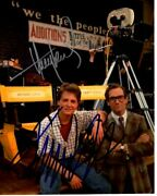Michael J. Fox And Huey Lewis Signed Autographed Back To The Future Photo