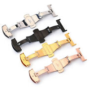 Buckle Butterfly Watch Band Flip Lock Deployment Replacement Push Button Clasp