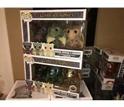 Funko Pop Game Of Thrones Drogon Rhaegal And Viserion Dragon 3 Pack And Metallic Set