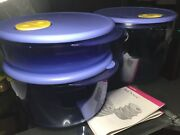New Vintage Tupperware Rock N Serve Set. Very Last Of Nos Prized Collectable