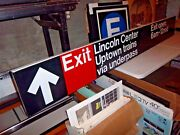 Ny Nyc Subway Sign Lincoln Center Philharmonic Hall Uptown 66th Street Broadway