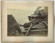 Railroad Train Wreck 1899 + Locomotives Ided Under Picts Vint Photos