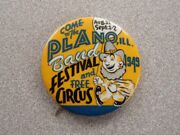 Orig. 1949 Plano, Illinois Band Festival And Circus Vintage Pinback Button