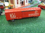 Lionel Post War 6464-525 Mand Stl Box Car Vg + Cond Orig But Dcst Added 1957-58