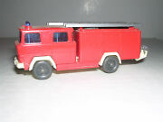Wiking 610 Magirus Lf16 Fire Truck - Red And White -- Imported 1975 H.o. 1/87