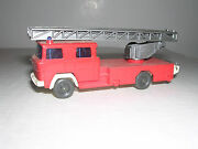 Wiking 620 Magirus Dl30 Fire Ladder Truck - Red And White -- Imported 1973 1/87