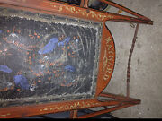 Maynard Antigue Sled Pre 1900 Non Sterable Upholstered Leather Vintage