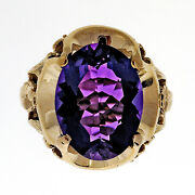 Antique Retro Art Deco 1940 9.0ct Oval 10k Pink Gold Ring