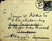 Gb 1898 Hotel Cover Redirected From Africa To Alcazar - Rare