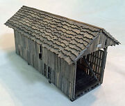 50' Queen Post Ng Covered Bridge On3 Model Railroad Structure Wood Kit Hl117ong