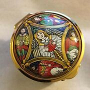 Staffordshire Enamels Enamel Box 1995 Hand Painted Made In England Mint In Box