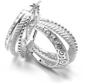 New Authentic Carrera Y Carrera Melodia 18k White Gold Earrings