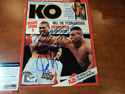 Mike Tyson And Gerry Cooney - Signed Knockout Boxing Magazine Photo - Psa Dna Coa