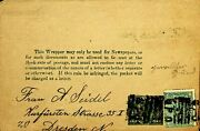 Queensland Australia Qv ½d Uprated Ps Wrapper To Germany