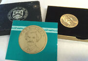 1981 Mark Twain American Arts One Ounce Gold Coin Medal With Box And Coa