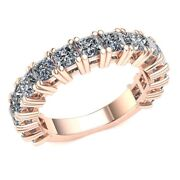 3.4ct Princess Diamond Women's Double Prong Eternity With Sizing Bar 10k Gold