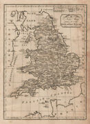 A New Map Of England And Wales. Paas 1800 Old Antique Vintage Plan Chart