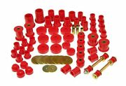 Prothane For 84-88 Toyota 4runner 4wd Total Complete Suspension Bushing Kit Red