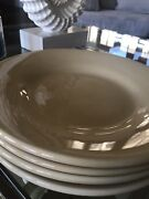 4 Four Pottery Barn Sausalito Pale Gold Yellow Amber 12 Dinner Plates