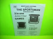 Westlake Systems The Sportsman Original Video Arcade Game Flyer Pong Style