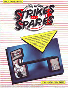 Strikes And Spares By Bally 1985 Nos Orig. Shuffle Bowling Alley Flyer Brochure