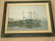 David Thimgan Painting 2 19th Century Whaling Boats In Port Listed Artist