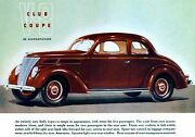 Magnet Automobile Ad Photo Magnet Ford 1937 V-8 Club Coupe