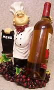 Wine Bottle Holder Seasonal Thanksgiving Sculpture Country Chef And Menu Board New