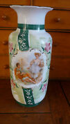 Victorian French Opaline Glass Handpainted Flowers Signed Boucher