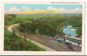 Gulf Gas Station Pumps 1940s Cars At Mountain Top Waverly New York Vtg Postcard