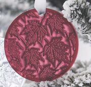 Lalique 2015 Champs Elysees Red Crystal Christmas Ornament New In Box Gift Wrap