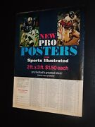 Sports Illustrated All Pro Posters Ad 1968-72 Mike Curtis Ron Johnson