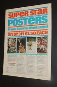 Sports Illustrated All Pro Posters Ad 1968-72 Namath Wilt Orr Bench