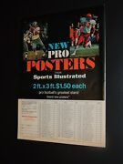 Sports Illustrated All Pro Posters Ad 1968-72 Roger Staubach Otis Taylor