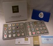Colorized Art And Design Of Olympic Games - .999 Fine Silver Ingots Collection