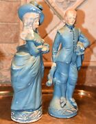 Coventry Ware Courting Coupleman Woman Figurines Matte Chalkware Victorian