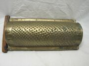 Primitive Antique 1874 Brass Hand Punched Cheese/spice Grater Kitchen Tool