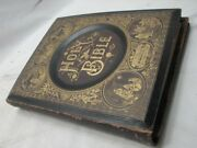 Antique Salesman's Sample Family Pictorial Bible Leather Book Display