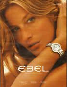 2008 Print Ad For Ebel`watches`gisele`model 032414