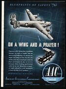1943 Wwii Consolidated B-24 Liberator Aac Aircraft Aviation Plane Parts Ad
