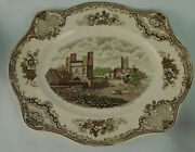 Johnson Brothers Old Britain Castles Platter Brown Multi Color Canterbury 1794 B