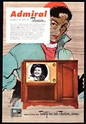 1951 Admiral Model 321k18 Console Tv Television Ad Vintage Advertising