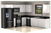White Shaker Cabinets Galley Kitchen All Wood Rta Cabinetry