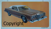 Dealership Showroom Poster/promo Sign 1974/74 Ford Ltd Brougham/galaxie 400/460